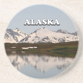 Alaska: Lake reflections of mountains Coaster