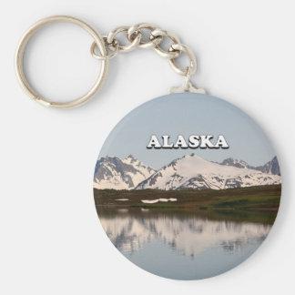 Alaska: Lake reflections of mountains Keychain