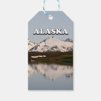 Alaska: Lake reflections of mountains Pack Of Gift Tags