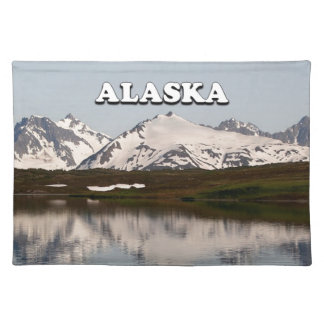 Alaska: Lake reflections of mountains Placemat