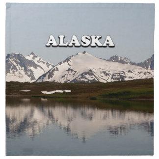 Alaska: Lake reflections of mountains Printed Napkin