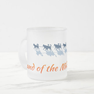 Alaska. Land of the Midnight Sun - Color Logo Frosted Glass Coffee Mug