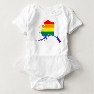 Alaska LGBT Flag Map Baby Bodysuit