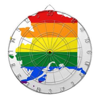 Alaska LGBT Flag Map Dartboard
