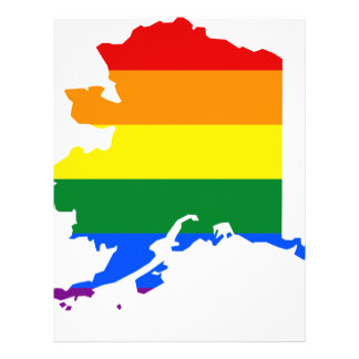 Alaska LGBT Flag Map Letterhead