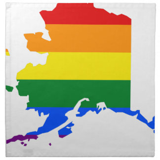 Alaska LGBT Flag Map Napkin