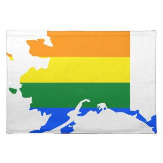 Alaska LGBT Flag Map Placemat