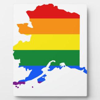Alaska LGBT Flag Map Plaque
