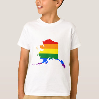 Alaska LGBT Flag Map T-Shirt