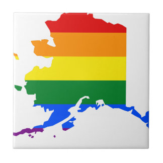 Alaska LGBT Flag Map Tile