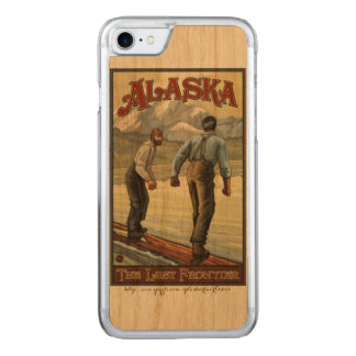 """Alaska Logging"" Carved iPhone 8/7 Case"