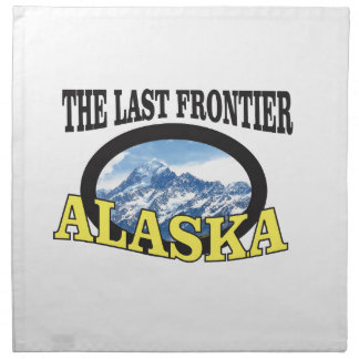 alaska logo art napkin
