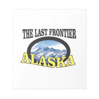 alaska logo art notepad