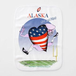 alaska loud and proud, tony fernandes burp cloth