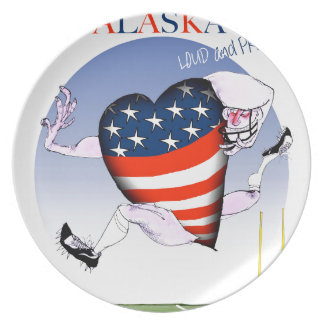 alaska loud and proud, tony fernandes party plate