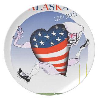 alaska loud and proud, tony fernandes plate