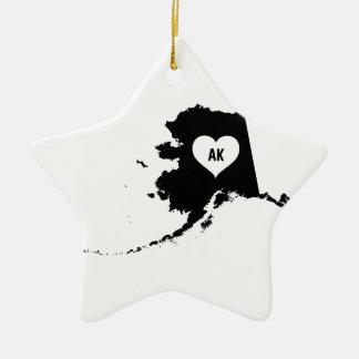 Alaska Love Ceramic Ornament