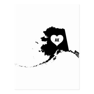Alaska Love Postcard