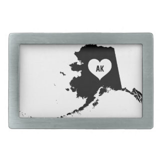 Alaska Love Rectangular Belt Buckles