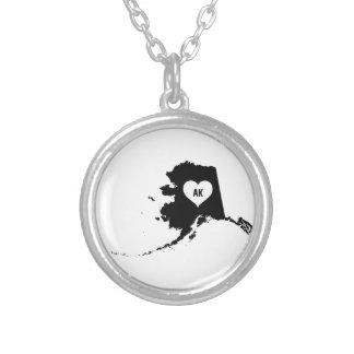 Alaska Love Silver Plated Necklace