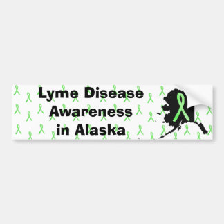 Alaska Lyme Disease Awaremess Bumper Sticker