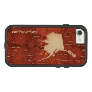 Alaska Map On Inner Birch Bark Case-Mate Tough Extreme iPhone 8/7 Case