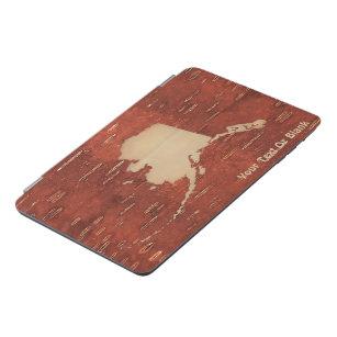 Alaska Map On Inner Birch Bark iPad Mini Cover