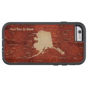 Alaska Map On Inner Birch Bark Tough Xtreme iPhone 6 Case