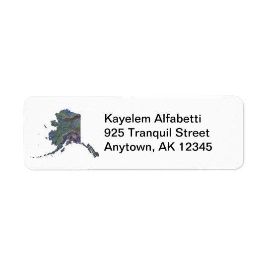 Alaska Map Return Address Label
