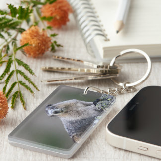 alaska marmot Single-Sided rectangular acrylic keychain