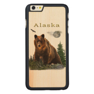 Alaska merchandise carved maple iPhone 6 plus case