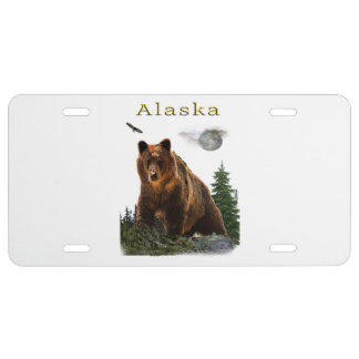 Alaska merchandise license plate