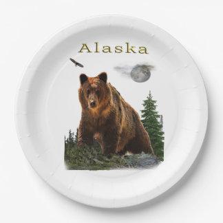 Alaska merchandise paper plate