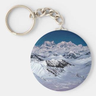 Alaska Mountain Range - Aerial View Keychain