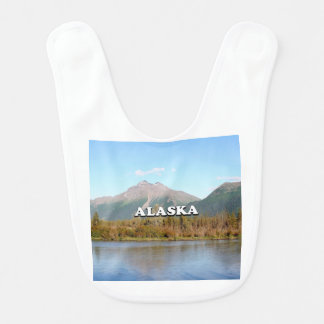 Alaska: mountains, forest and river, USA Bib