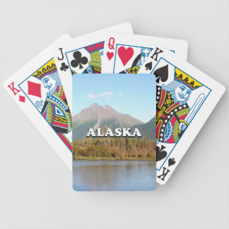 Alaska: mountains, forest and river, USA Bicycle Playing Cards