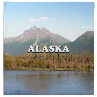 Alaska: mountains, forest and river, USA Cloth Napkin