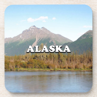 Alaska: mountains, forest and river, USA Coaster