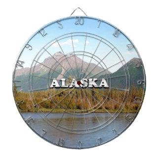 Alaska: mountains, forest and river, USA Dartboard