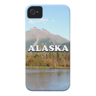 Alaska: mountains, forest and river, USA iPhone 4 Case-Mate Case