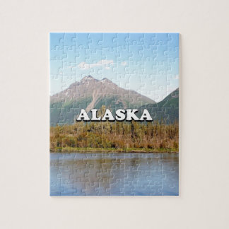 Alaska: mountains, forest and river, USA Jigsaw Puzzle