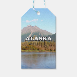 Alaska: mountains, forest and river, USA Pack Of Gift Tags