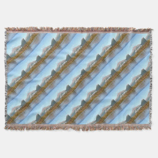 Alaska: mountains, forest and river, USA Throw Blanket