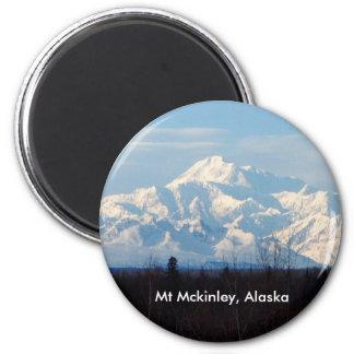 Alaska, Mt Mckinley,Denali, 2 Inch Round Magnet