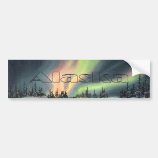 ALASKA NORTHERN LIGHTS by SHARON SHARPE Bumper Sticker