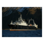 Alaska Ocean, Factory Trawler in Dutch Harbour, AK Poster
