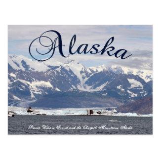 Alaska Prince William Sound Chugach Mountain Card Postcard