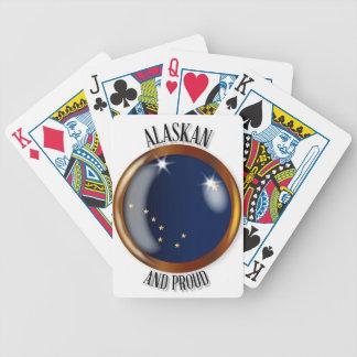 Alaska Proud Flag Button Bicycle Playing Cards