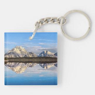 Alaska Reflection Double-Sided Square Acrylic Keychain