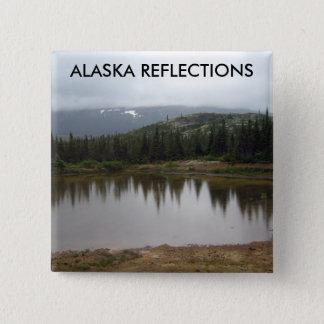 Alaska Reflections 2 Inch Square Button